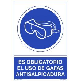 OBLIGATORIO EL USO DE GAFAS ANTISALPICADURA